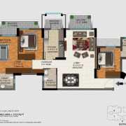 DLF Regal Gardens Floor Plan 1719 Sqft. 3 BHK