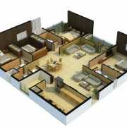 Pacifica Aurum Floor Plan 3452 Sqft. 4 BHK