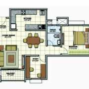 Prestige Sunrise Park Floor Plan 1007 Sqft. 2 BHK
