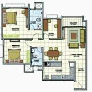 Prestige Sunrise Park Floor Plan 1386 Sqft. 2.5 BHK