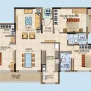 Salarpuria Aspire Floor Plan 2060 Sqft. 3 BHK