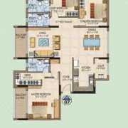 Salarpuria Aspire Floor Plan 2040 Sqft. 3 BHK