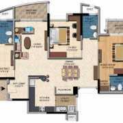 Salarpuria Sattva Casa Irene Floor Plan 1894 Sqft. 3 BHK