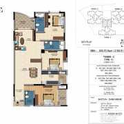 Salarpuria Sattva Casa Irene Floor Plan 2192 Sqft. 3 BHK