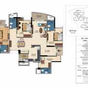 Salarpuria Sattva Casa Irene Floor Plan 2226 Sqft. 3 BHK