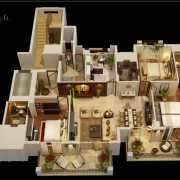 ATS Triumph Floor Plan 2290 Sqft. 3BHK + Servant