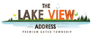 The Lake View Address Logo