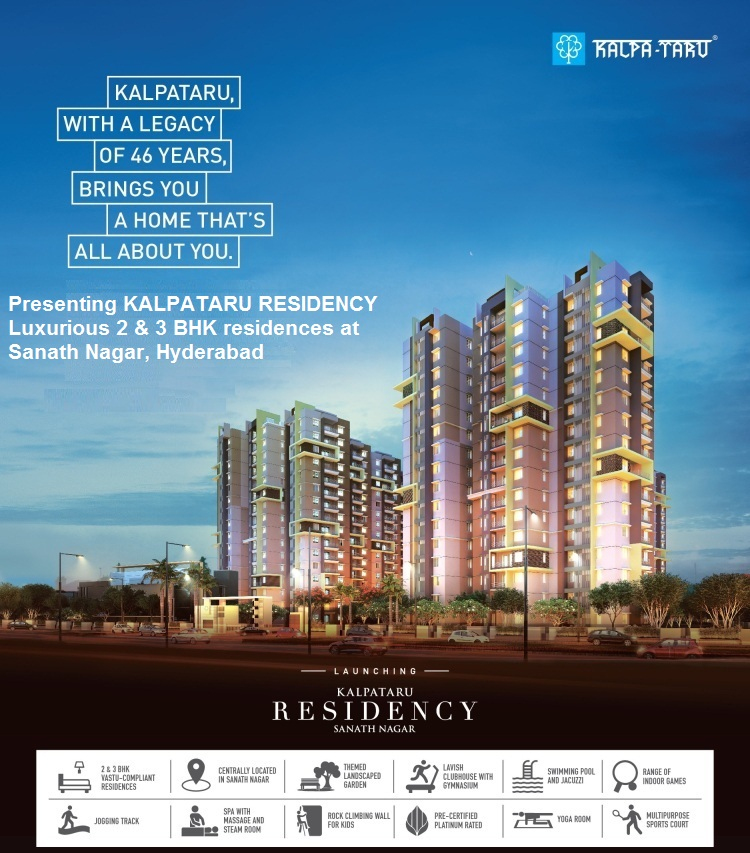 Book Your Space In Kalpataru Residency ! Residential Apartments in Sanath Nagar Hyderabad