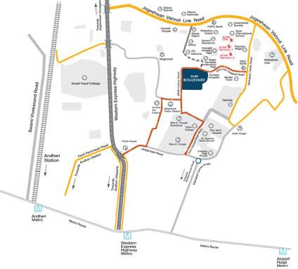 ACME Boulevard Location Map