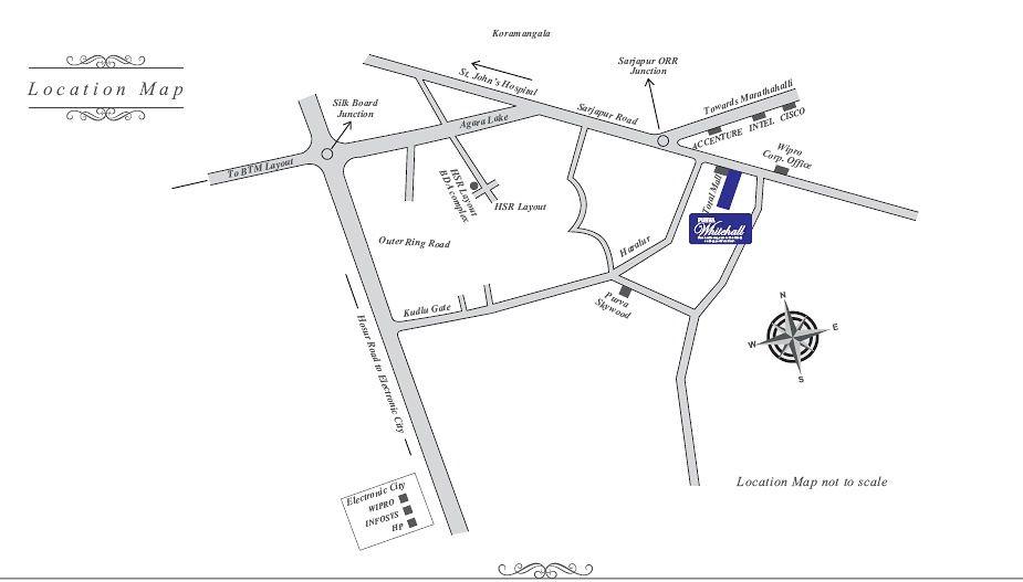 Purva Whitehall Location Map