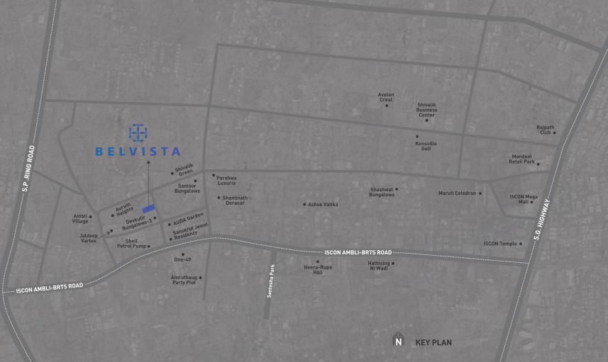 Arista Belvista Location Map