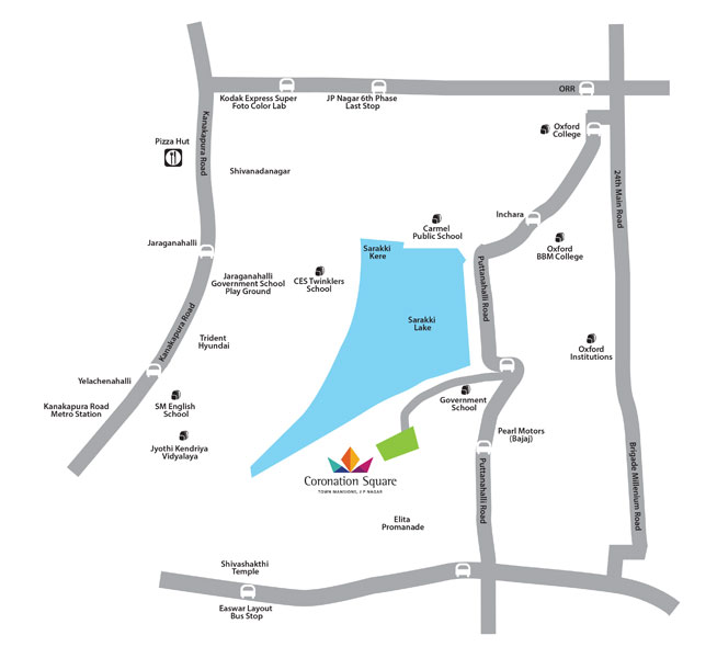 Purva Coronation Square Location Map