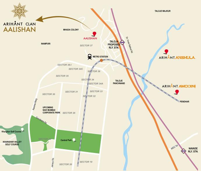 Arihant Aalishan Location Map