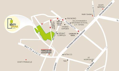 Dosti Vihar Location Map