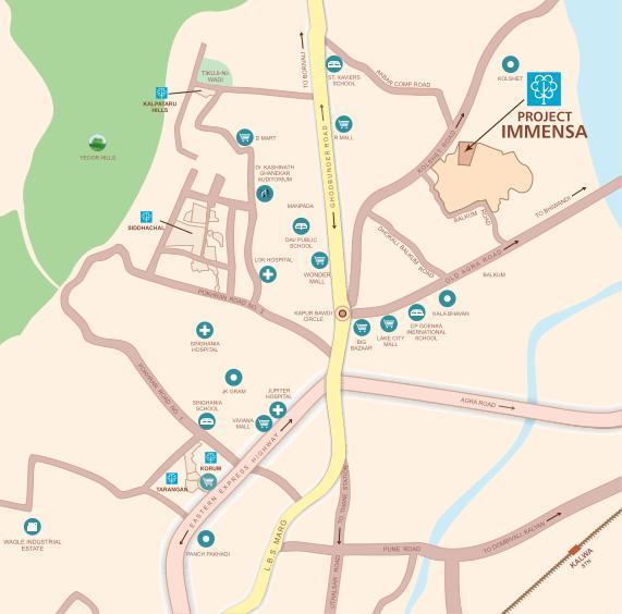 Kalpataru Immensa Location Map