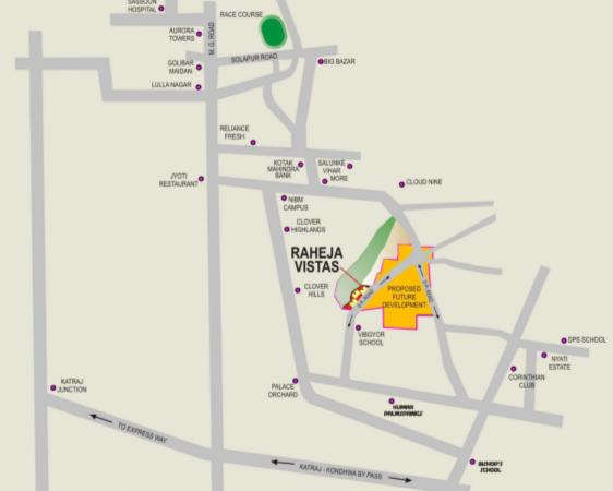 Raheja Vistas Location Map