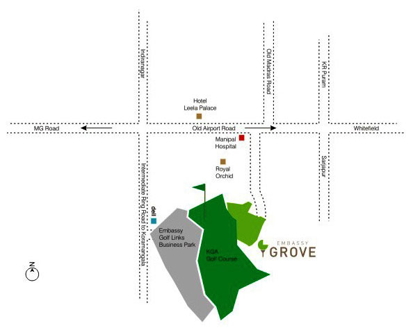 Embassy Grove Location Map