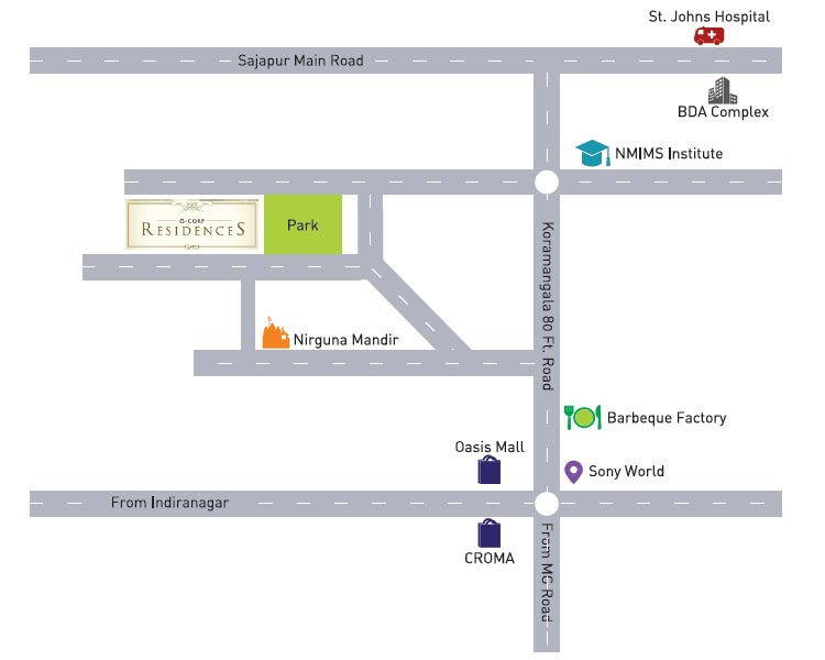 G Corp Residences Location Map