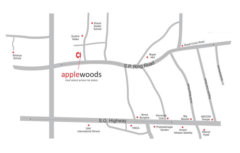 Applewoods Villas Location Map
