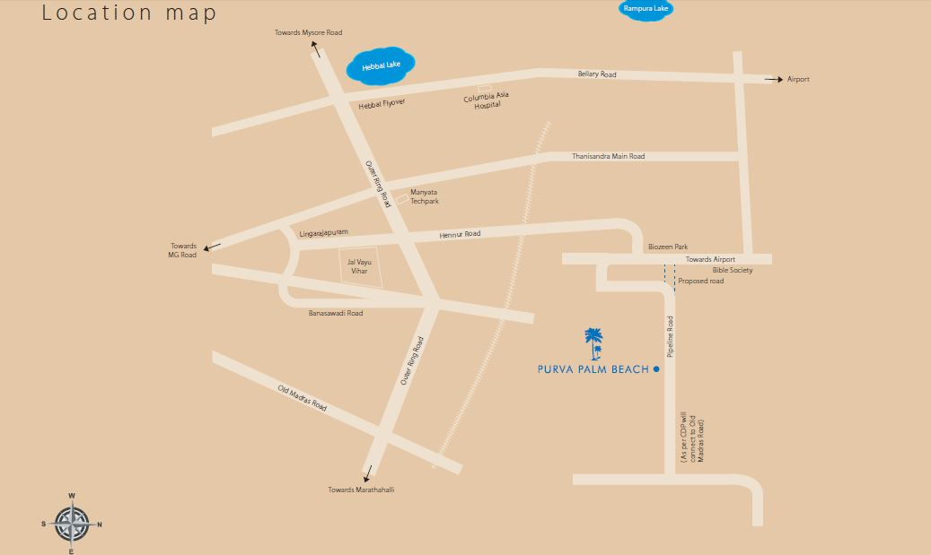 Purva Northern Waves Location Map
