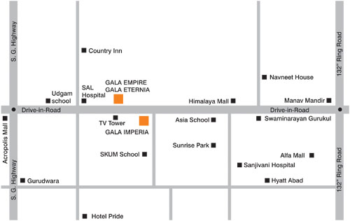 Gala Empire Location Map