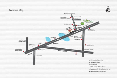 Shriram Greenfield Location Map