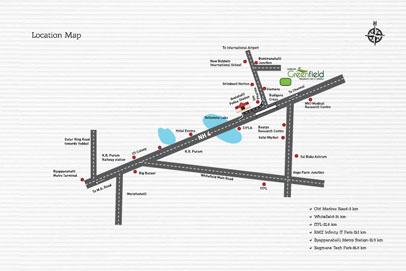 Shriram Greenfield Location Map