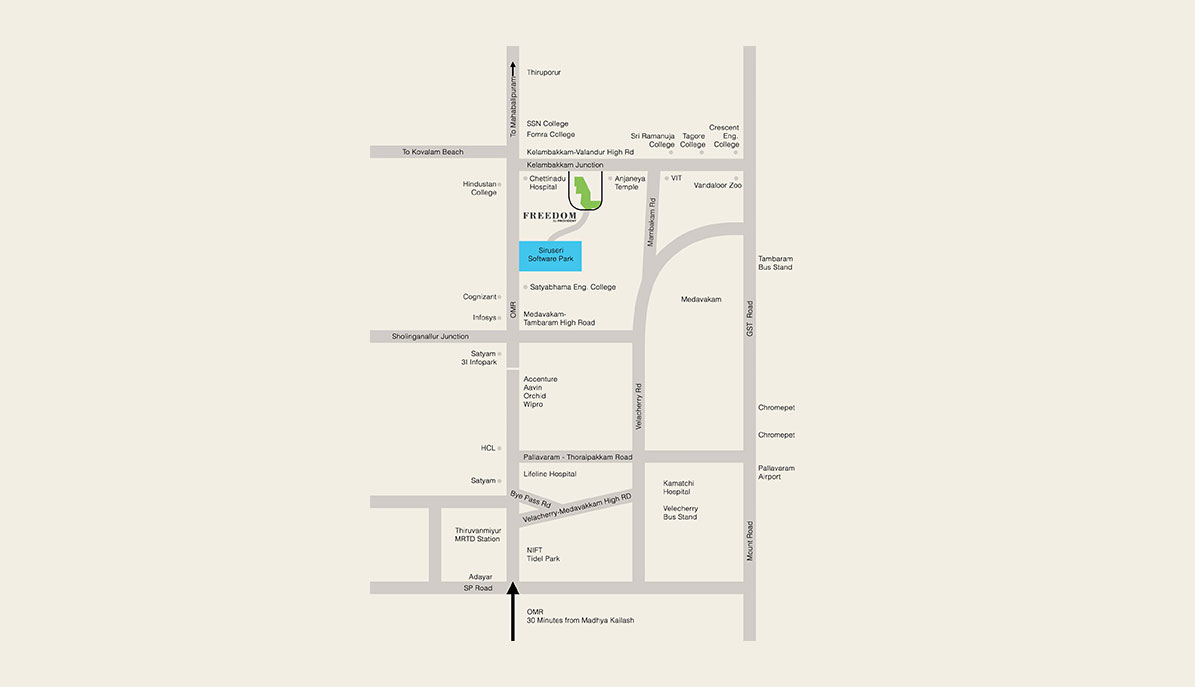 Freedom By Provident Location Map