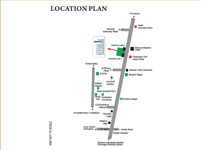 Paarth Gardenia Residency Location Map