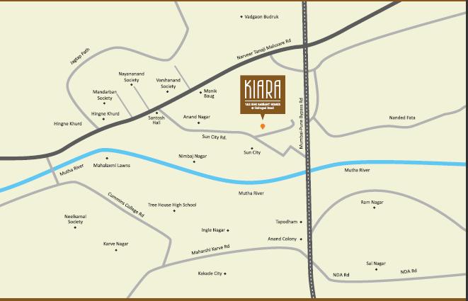 Calyx Kiara Location Map