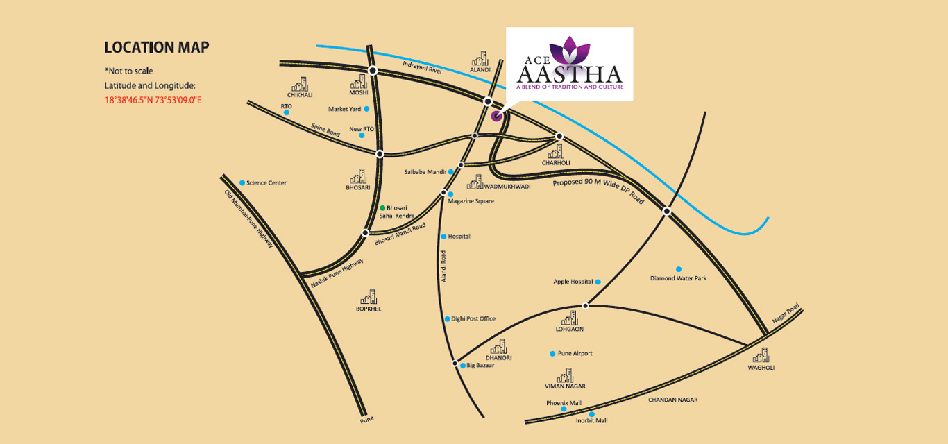 Ace Aastha Location Map