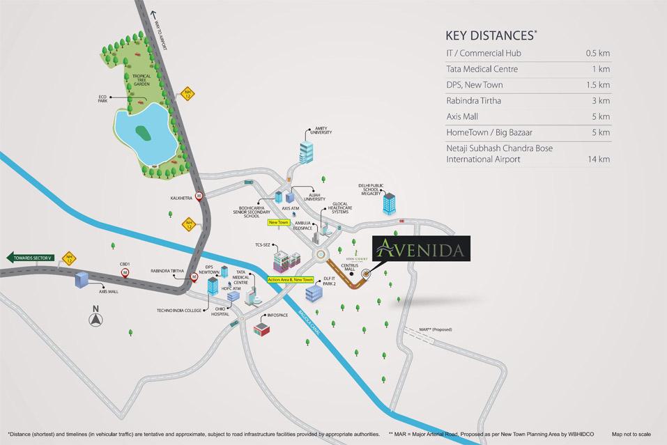 Tata Avenida Location Map