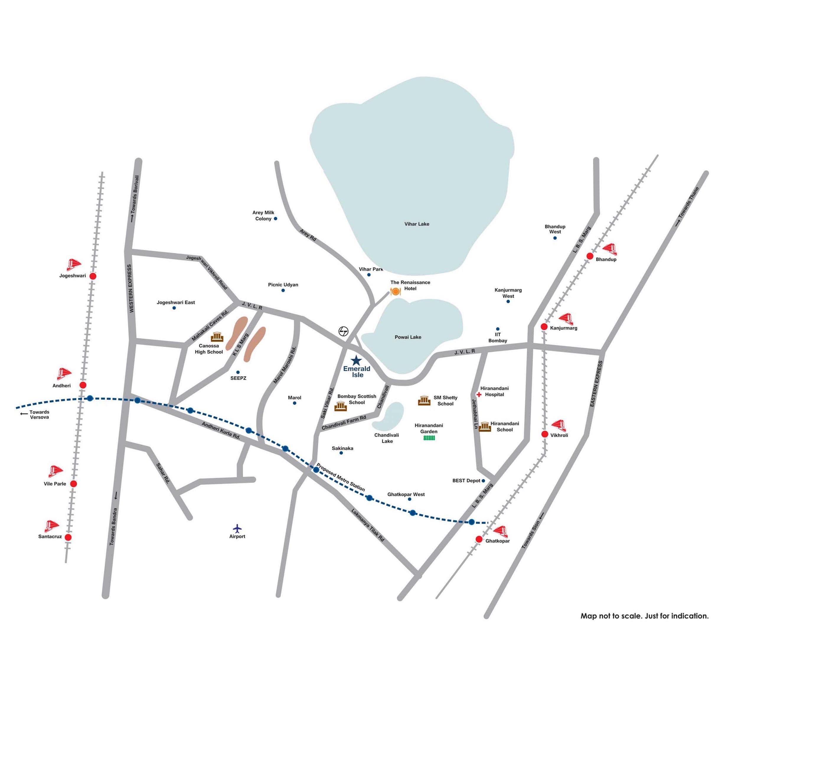 L&T Emerald Isle Location Map